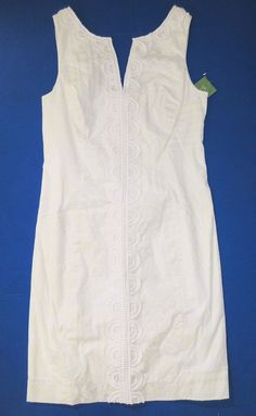 LILLY PULITZER 4 Resort White JANICE Maine State Patch Shift Dress NWT 4 #LillyPulitzer #Shift #SummerBeach