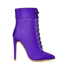 Niko Zip Detail Lace Up Ankle Boot In Purple Lycra (970 MXN) ❤ liked on Polyvore featuring shoes, boots, ankle booties, purple booties, laced ankle boots, laced booties, lace-up bootie and lace up ankle bootie