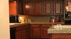 Oak cabinet transformations