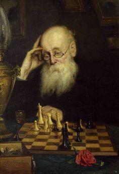 Carnivore Grigory (1834 - 1911) Portrait of a chess player AD Petrova. 1907