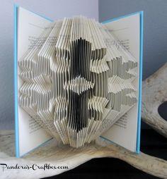 book folding, book folding origami, book folding pattern, snowlflake pattern, origami