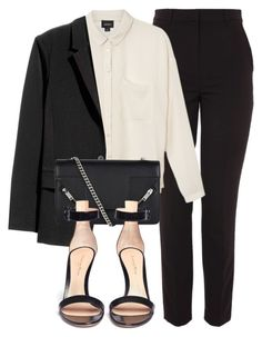"""""""Untitled #6632"""" by laurenmboot ❤ liked on Polyvore featuring Topshop, Monki, Yves Saint Laurent and Gianvito Rossi"""