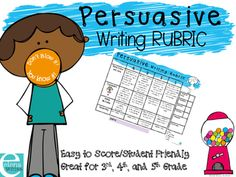 Persuasive Writing Rubric*Dont Blow It! You Know It!Motivate students to do their best with this fun, useful and grade appropriate rubric.It is student friendly, while still providing useful feedback so the next writing piece will be even better!You may also like myPresentation RubricBehavior Rubric Persuasive Writing ProjectDid you know?You can get TPT credit to use on future purchases.Go to your My Purchases page.You'll see a Provide Feedback button.Click it and give a quick rating and/or…