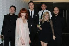 tom monger, florence welch, rob ackroyd, chris hayden, isabella summers, mark saunders.