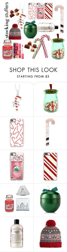 """""""Candy Cane"""" by lilipafer ❤ liked on Polyvore featuring Casetify, Yankee Candle, philosophy, Capelli New York and Sephora Collection"""