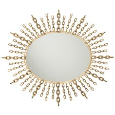 Barry Dixon for Arteriors Chain Starburst Mirror