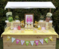 Most adorable lemonade stand. I'm pretty sure this would make you more than just $.25 on the side of the road!