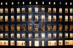 Dior lights at Harrods
