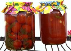 Egészben eltett paradicsom Ketchup, Preserves, Watermelon, Juice, Cooking Recipes, Pudding, Canning, Ale, Fruit