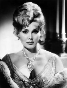 Zsa Zsa Gabor - the 1950's person who was famous for being famous. She did appear in a couple of movies.