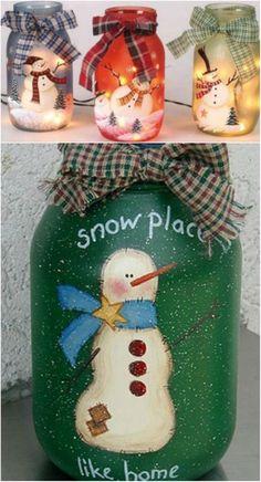 Snowman Mason Jars                                                                                                                                                                                 More