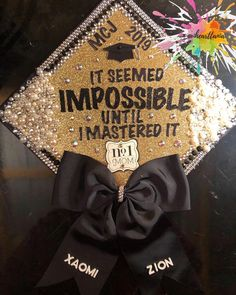 Quotes For Graduation Caps, Custom Graduation Caps, College Graduation Parties, Graduation Cap Toppers, Graduation Cap Designs, Graduation Cap Decoration, Graduation Diy, Graduation Pictures, Cap Decorations
