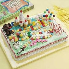 How cool is this Candyland Cake?