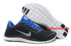 huge discount c4e51 06049 Nike Free 3.0 V5 Black Royal Blue Mens 580393-004 Nike Shoes Cheap, Nike