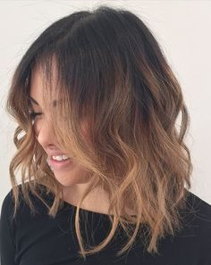transition sample of balayage - ombre bob/lob