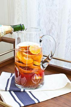 Blood Orange Sangria (click through for the full recipe!)