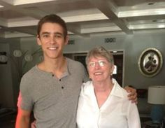 The Giver movie is actually happening! Here's a photo of Lois Lowry and the actor Brenton Thwaites who will play Jonas.