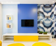 Amo a maneira como a Sandra Picciotto sabe usar cores nos projetos!!! || Psycho Blue!!! Sandra Picciotto | Odebrecht The Garden