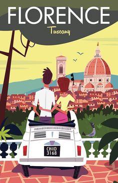 Vintage Italian Posters, Pub Vintage, Vintage Travel Posters, Art Deco Posters, Poster Prints, Art Et Design, Graphic Design, Travel Illustration, Emblem
