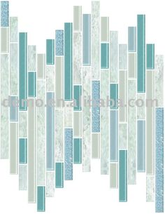 glass tiles wave strips