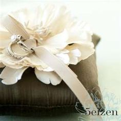 Soiree Floral on Nantucket  creates customized ring pillows ...