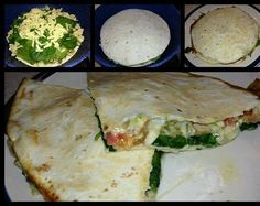 SHARE ON YOUR TIMELINE TO SAVE heart emoticon Spinach  Tomato Quesadilla with Pesto heart emoticon (Makes 2 servings)  THIS IS UNBELIEVABLY GOOD!!!! FOLLOW ME FOR MORE COOL STUFF AT: James R. Davis Sr.  Ingredients: 1 roma tomato thinly sliced Cooked chicken breast sliced Baby spinach Pesto Feta crumbles Shredded mozzarella 2 large flour or whole wheat tortillas Directions: Place a tortilla on a skillet over medium heat and spread a layer of pesto on top. Add a light layer of mozzarella…