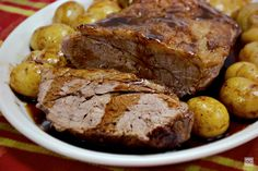 Maminha assada com batatas How To Cook Beef, What To Cook, Brazillian Food, Pot Roast, Meatloaf, Barbecue, Steak, Oven, Pork