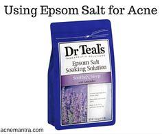 http://acnemantra.com/epsom-salt-for-acne/ Learn how to use epsom salt for acne and acne scars. Does epsom salt help with acne? Can it fade acne scars? Plus how to use epsom salt bath for acne.
