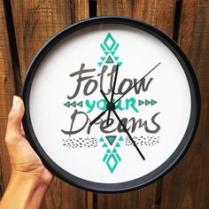 """""""Follow Your Dreams"""" Wall Clock by Pom Graphic Design on Society6."""