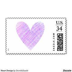 heart design postage mailing sendletter