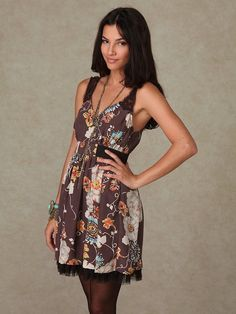 b6005a31225 ANTHROPOLOGIE FREE PEOPLE LACE STRAPS FLORAL DRESS - 4  FreePeople  FLORAL.  Kristine Shultz