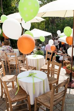 Cheerful party decoration for an outdoor event in Athens, Greece See more here: http://www.StyleConcept.gr/en