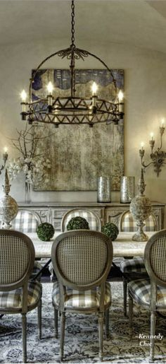 Stunning Fancy French Country Dining Room Decor Ideas 53
