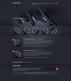 Шаблон сайта темно-серого цвета для автомобильного магазина — Макеты сайтов в формате PSD