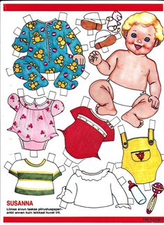 LASSE * 1500 free paper dolls at Arielle Gabriel's The International Paper Doll Society for paper doll pals at Pinterest *