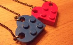 Valentine's Day #5: DIY Lego Heart Necklace #lego #diy #craft #vday http://buff.ly/1zBj2Lh