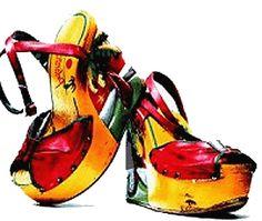 "David Bowie's ""Palm Tree"" platform shoes (1973)"