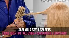 We've all experienced it before - you work hard to create curls with your round brush only to see part of the curls have collapsed half-way through your fini...