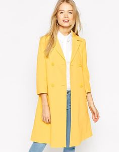 ASOS | ASOS Coat With Swing Fit And Pleat Back at ASOS