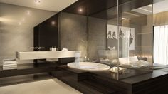 contemporary bathroom decorating