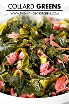 How to cook the best Southern Collard Greens with a simple mix of spices, smoked ham hock, brown sugar, and butter! First, make the broth, then add the greens and slowly simmer until the greens are rich with flavor, buttery soft and silky in texture. The perfect comfort food side dish! Side Dishes For Bbq, Side Dish Recipes, Veggie Recipes, Cooking Recipes, How To Cook Collards, How To Cook Ham, How To Cook Greens, Mixed Greens Recipe, Collard Greens Recipe