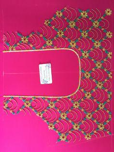 Bhuwi by Bhargavi reddy Kids Blouse Designs, Hand Work Blouse Design, Simple Blouse Designs, Bridal Blouse Designs, Kurti Embroidery Design, Embroidery Neck Designs, Hand Work Embroidery, Applique Designs, Aari Embroidery