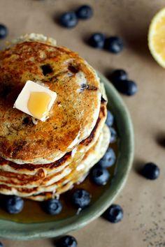 Lemon Poppy Seed Blueberry Pancakes