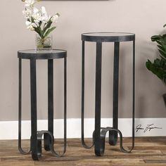 Lowest price online on all Uttermost Arusi Strapped Iron Accent Tables (Set of 2) - 24598