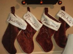 Christmas stockings for us and pets with a bit of extra flair for the dogs with a little puffy paint