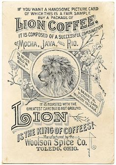 Old Advertising Clip Art - Coffee Ad - The Graphics Fairy--possibly a sign for the kitchen someday