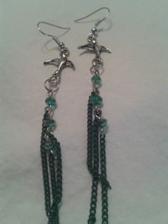 Items similar to Pretty bird earrings on Etsy Bird Earrings, Drop Earrings, Pretty Birds, Jewelry Party, Beaded Necklace, Jewelry Design, Etsy, Beaded Collar, Beautiful Birds