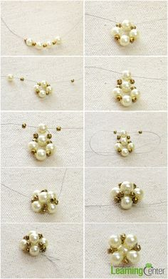 Free DIY - Beaded Pearl Stud Earrings Step by Step featured in recent Bead-Patterns In this tutorial, you will get to know the steps on making pearl earring studs in a simple way. Glass beads have long history, significant in archaeology and jewelry makin Diy Earrings Studs, Pearl Stud Earrings, Bead Earrings, Earrings Handmade, Earring Studs, Pearl Studs, Seed Bead Jewelry, Bead Jewellery, Damas Jewellery