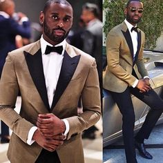 Since a gold tuxedo is a more casual kind of a suit, you are able to choose to experiment with footwear and make sure that it remains dynamic. A tuxedo is a particular ensemble that you just wear f… Prom Tuxedo, Tuxedo Wedding, Wedding Suits, Wedding Attire, Wedding Tuxedos, Gatsby Wedding, Groomsmen Suits, Groom Attire, Mens Fashion Suits