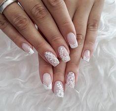 How to choose your fake nails? - My Nails French Nail Art, French Nail Designs, Nail Art Designs, Cute Nails, Pretty Nails, My Nails, Nagellack Design, Bridal Nail Art, Bride Nails